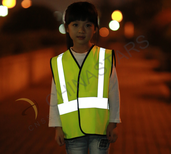 Safety vest guarantees pedestrians' safety