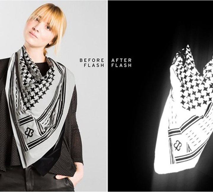New design reflective scarf