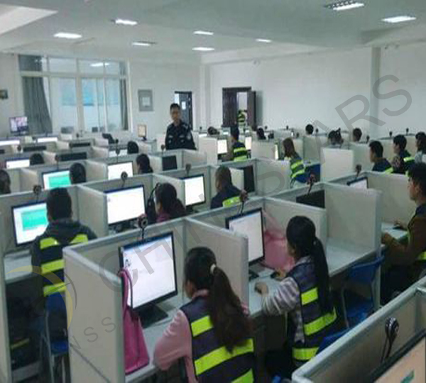 China Vehicle Administration exams require students wear safety vest