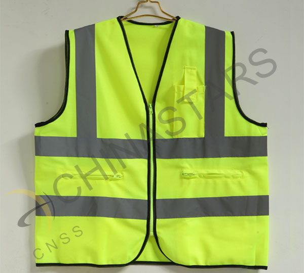 Truck drivers are required to wear high visibility clothing